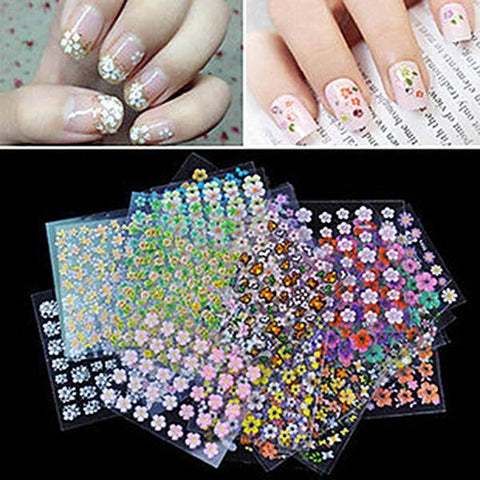 3D Flower Nail Art Stickers Nail Decoration