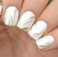 Gold Pattern nail design