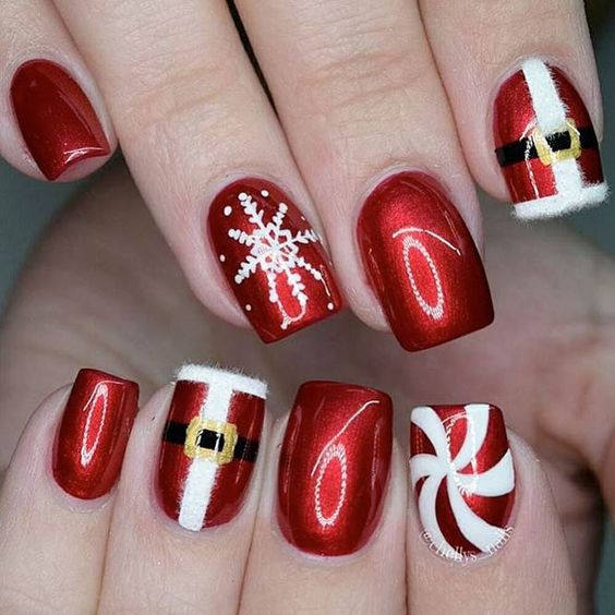 Hottest 50+ Christmas Nail Ideas for 2017