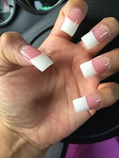 White French Tip Nail Design-7