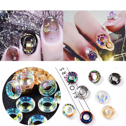 3D Nail Charms Ring Rhinestones Designs