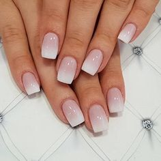 Short Ombre Square Nail Design