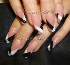 French stripe white nail design
