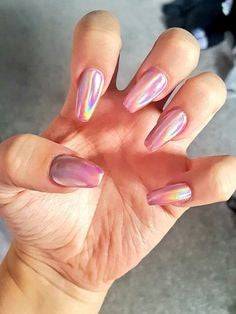 Rose Gold Chrome Nail Design-2