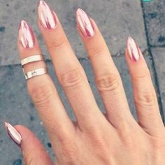 Rose Gold Chrome Nail Design-6