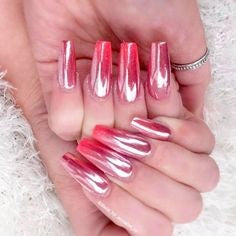 Rose Gold Chrome Nail Design-7