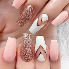 Rose Gold Chrome Nail Design-9