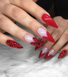 Valentine day nails-9