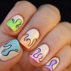 Cute flame nail design