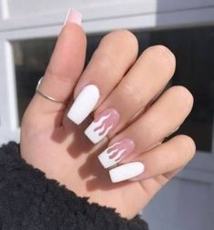 White Flame Nails