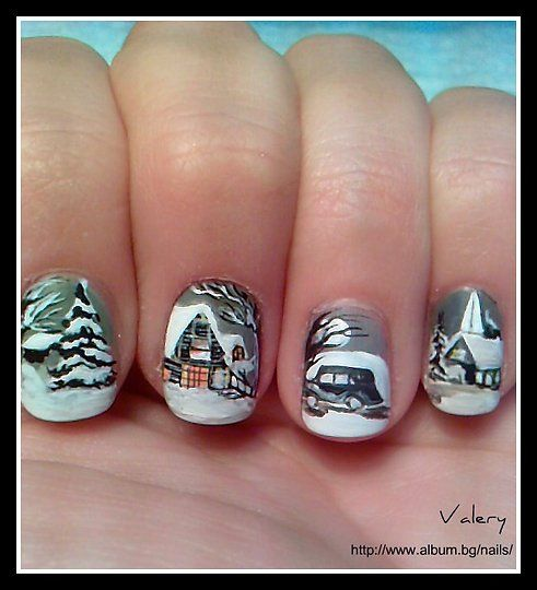 hottest 50 christmas nail ideas for 2017 15