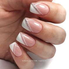 Pretty Nail Design-12 Irregular French nails