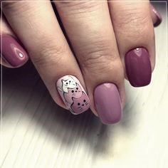 Purple 3 cats Nail Design