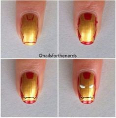 Ironman Nail Designs-how to design