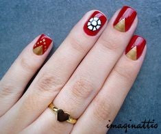 Ironman Nail Designs-red and golden