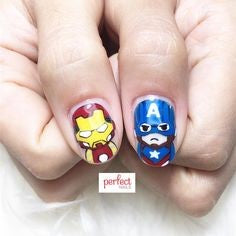 Ironman Nail Designs-ironman and Captain America