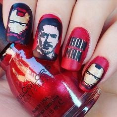 Ironman Nail Designs-ironman and Tony Stark