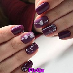 Valentine day nails-7