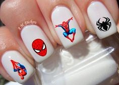 Spiderman Nail Designs- Various forms