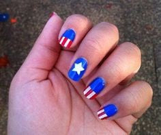 Captain America Nail Designs-cute captain icon