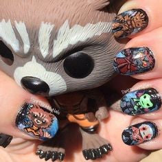 Guardians of the Galaxy Nail Designs- Guardians of the Galaxy Figurine