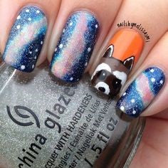 Guardians of the Galaxy Nail Designs- Rocket