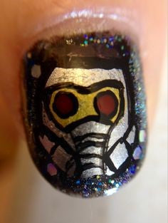 Guardians of the Galaxy Nail Designs-star lord