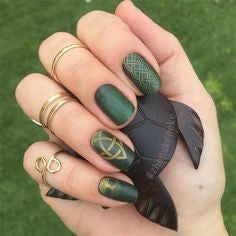 Loki Nail Designs- Matte green