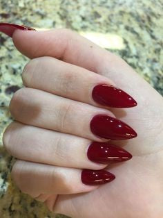 Black WidowNail Designs- Mirror red short nails