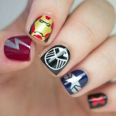 Avengers Avengers Nail Design- Holographic galaxyNail Design- Sign