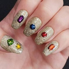 Avengers Nail Design- Infinite gem