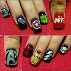 Avengers Nail Design- arms