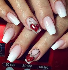 Pretty Nail Design-14 Love nails