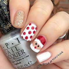 Cute christmas man winter nail design