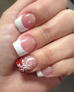 French Christmas Nail Art Design