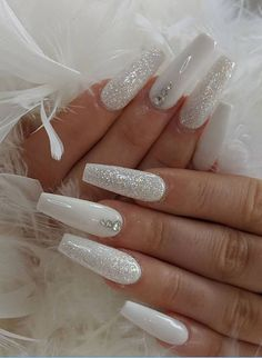 Pretty Nail Design-5 White Coffin nails