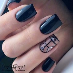 Black mirror nail design