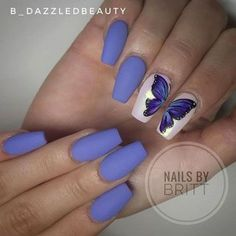 Butterfly Spring Nail Design