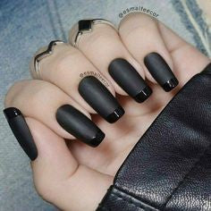 French black long nail design