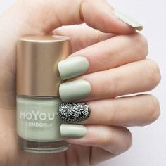 Light green nail designs for older ladies
