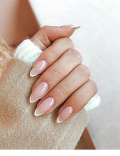 French Tip Almond Nail Design