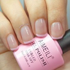 Simple French nail designs for older ladies