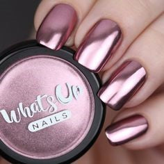 Rose Chrome Powder for mirror nail designs for older ladies