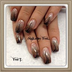 Tri-color Nail Art Design-5