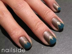 Tri-color Nail Art Design-6