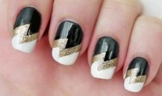 Tri-color Nail Art Design-7