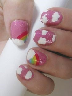 Cute Rainbow Nail Design