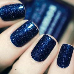 Midnight Blue nail design