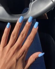 Blue Nail Polish Designs-5 Matte nails
