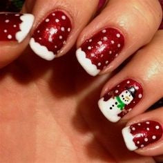 French Snow nail design